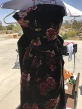 Summer strapless dress in Yucca Valley, California