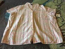 New Basic Editions 3X button down plaid shirt in Fort Riley, Kansas