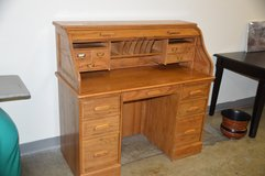 Smaller All Oak  Roll Top Desk. in Tacoma, Washington