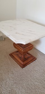 Marble top side table - vintage in Oswego, Illinois
