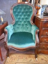 Emerald Green Victorian Chair in Naperville, Illinois