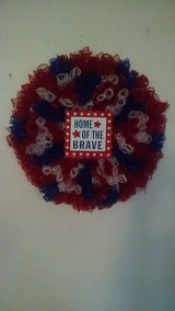 Americana Firework Wreath/ Handmade/ Beautiful in Travis AFB, California
