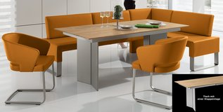 Wössner - dining table pus real leather corner bench in Ramstein, Germany