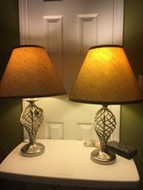 Stainless Steel 3-Way Switch Table Lamps w/o shades (price each) in Eglin AFB, Florida