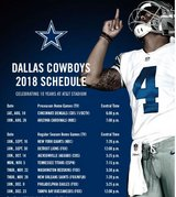 2018 Dallas Cowboys tickets - Section 319 row 12, Seats 9-12;  4 hard tickets or e-tickets. in Kingwood, Texas