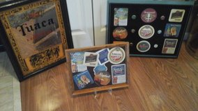 Bar Mirror / Framed Pictures  Beer Coasters & Beer Bottle Caps Assembled by Crafter in Bolingbrook, Illinois