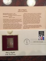 gold stamp 1989 first day issue in Beaufort, South Carolina