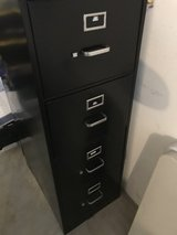 Black file cabinet execute style in Plainfield, Illinois
