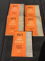 1971 Ford Complete 5 book set of Shop Manual collection in Chicago, Illinois