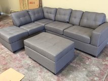 NEW! URBAN LINEN GREY SOFA CHAISE (REVERSIBLE) SECTIONAL WITH STORAGES!! in Camp Pendleton, California