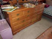 Seven Drawer Solid Wood Dresser With Mirror in Fort Riley, Kansas