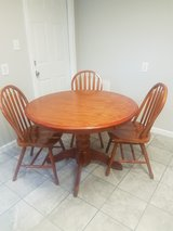 Real Wood Table and 3 chairs in Fort Campbell, Kentucky