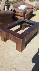 Wood table frame in 29 Palms, California