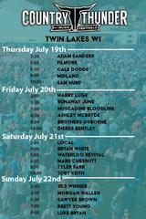 RSVP Country Thunder Twin Lakes WI 4-day in Oswego, Illinois