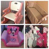 Co Sleeper/Minnie chair/rocker/nb pjs in Fort Drum, New York