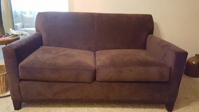 Rowe loveseat, Brown microfiber, like new in Wright-Patterson AFB, Ohio