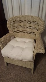 White wicker and cushion in Wright-Patterson AFB, Ohio