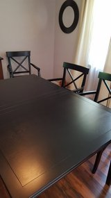 Pottery Barn black dining table/4 chairs in Wright-Patterson AFB, Ohio