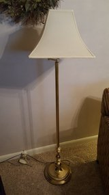 Brass swing arm floor lamp, 59H in Wright-Patterson AFB, Ohio