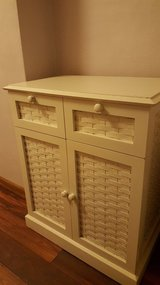 White cupboard, 26L, 16W, 31H small crack on top in Wright-Patterson AFB, Ohio