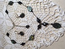Black Jewelry Set Purchased from Artist over 20 Years Ago Black Abalone on Delicate Black String... in Houston, Texas