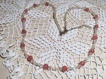 Vintage Necklace Family Piece Light Pink and Aurora Borialis Finish Moonstone Type Beads in Houston, Texas