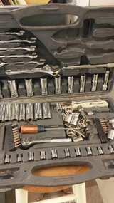 Box of used wrenches in Perry, Georgia