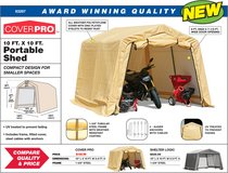 Coverpro 10x10 Portable Shed in 29 Palms, California