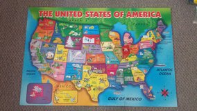 First Learning Wooden USA Map Floor Puzzle in Lockport, Illinois