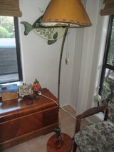 Fishing Rod floor lamp and Fishing sign Man Cave Fathers day in Fort Bliss, Texas