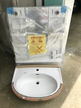 Ceramic bathroom sink and medicine cabinet - new never used- in Okinawa, Japan