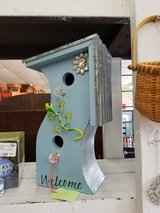 Stainless & Wood Birdhouse with Gecko #1867-30 in Camp Lejeune, North Carolina