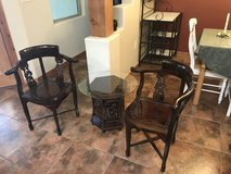 Asian Leaf & Grape Design Set with 2 Chairs and 1 Table in Alamogordo, New Mexico