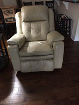 Power Leather Sofa (with recliner at each end) and Chair (recliner & rocker) in Perry, Georgia