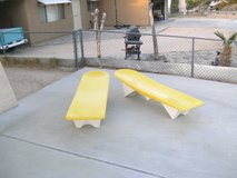 Vintage Poolside Loungers in Yucca Valley, California