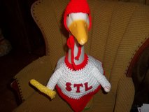 STL Cardinal Baseball Geese Outfit Outdoor Lawn Goose Clothes in Belleville, Illinois