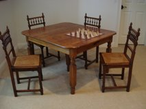 Antique Dining Chairs, Hand caned seats in Beaufort, South Carolina