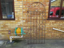 Curved Wrought Iron Gate in Lakenheath, UK