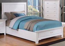NEW! QUALITY WHITE PLATFORM TWIN BED WITH STORAGE in Camp Pendleton, California