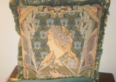 Custom Art Nouveau Lady Tapestry Velvet Pillow Couch Sofa Loveseat in Bolingbrook, Illinois