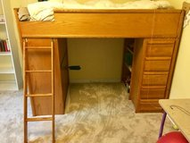 Loft Bed Twin Size with desk and storage space, great condition! in Waukegan, Illinois