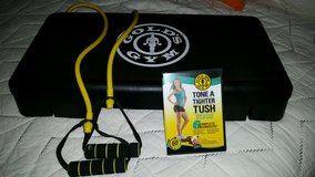 golds gym stepper, band and dvd in Conroe, Texas