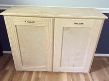 Double Tip-out trash/recycle wood cabinet - NEW in Quantico, Virginia