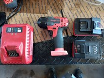 """like new Snap-on 18 V 3/8"""" Drive MonsterLithium Impact Wrench Kit  red in Alamogordo, New Mexico"""