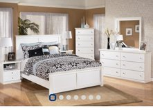 Bostwick king bedroom set white in Indianapolis, Indiana