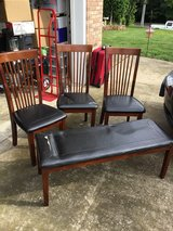 3 Chairs and Bench in Fort Campbell, Kentucky