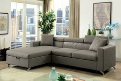 NEW! CONTEMPORARY SOFA CHAISE SECTIONAL WITH SLEEPER + BUILT IN STORAGE!!:) in Camp Pendleton, California