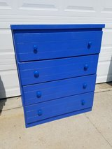 Captain's Blue Solid Wood Chest Of Drawers in Fort Campbell, Kentucky