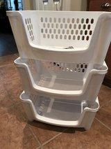 3 TIER STORAGE BIN * STACKABLE w/ ROLLERS in Pasadena, Texas