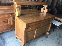Tiger Golden Oak Sideboard/Buffet w/Beveled Mirror Top in Cherry Point, North Carolina